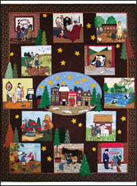 "Piecemakers 2008 Calendar Quilt — ""When Our Hearts Were Young and Gay"""
