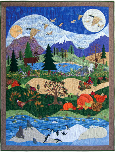 "Piecemakers 2010 Calendar Quilt — ""God's Glory Covers the Earth"""