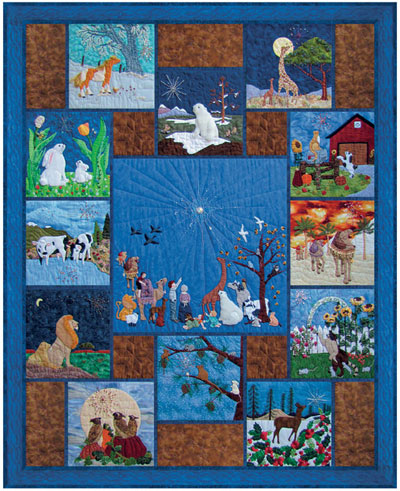 "Piecemakers 2011 Calendar Quilt — ""All Eyes Shall Behold His Glory"""