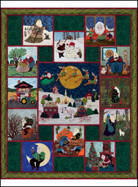 "Piecemakers 2012 Calendar Quilt — ""Here Comes Santa Claus"""
