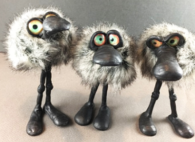 Epoxy Clay Fuzz Ball Characters
