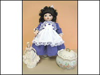 Porcelain Dolls, Lace Draping, and Ceramic Painting