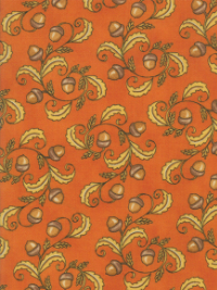 "Moda ""Thankful"" by Deb Strain #19902-12 col. Orange - Acorns on Orange_THUMBNAIL"