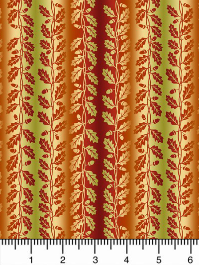 "In The Beginning Fabrics ""Our Autumn Friends"" # 4OAF-1 – Small Autumn Leaf Stripe MAIN"