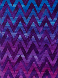 "Robert Kaufman ""Elementals"" #AMD-13874-259 Blackberry — Purple and Blue Chevron"