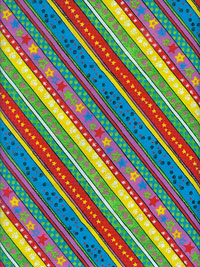 "Fabri-Quilt, Inc. ""Playful Pets Stripe"" #140-23431 - Bright Multicolored Stripes"