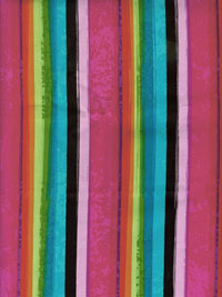 "Kanvas Studio ""Patio Prints"" # 06518 col. 99 — Bright Stripes"