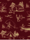 "Windham Fabrics ""Outdoor Life"" #35479-4 - Outdoor Fun: Camping, Fishing, Canoeing Mini-Thumbnail"