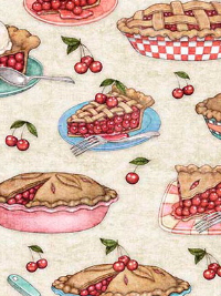 "QT Fabrics ""Home Sweet Home"" # 1649-26328-E - Cherry Pies"