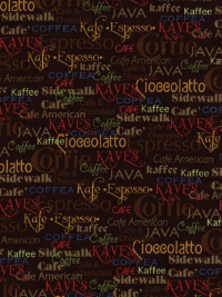 "Quilting Treasures ""Daily Grind"" #1649-21676-AJ - Coffee Words"