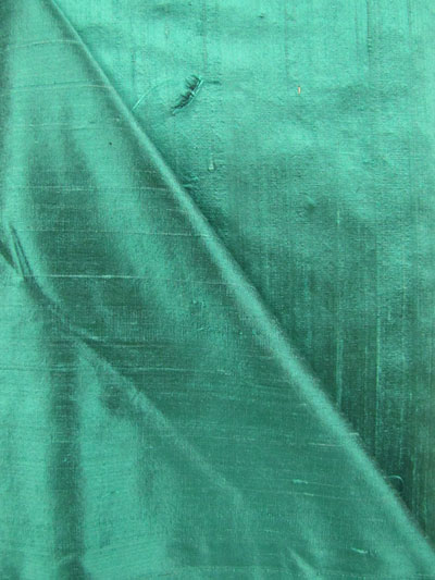 Dark Teal Dupioni Silk Fabric