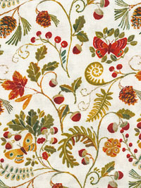 "Windham Fabrics ""Wild Woods"" #41122-1 - Fall Foliage_THUMBNAIL"