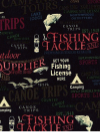 "Windham Fabrics ""Outdoor Life"" #35478-2 - Fish ""Lingo"" on Black Mini-Thumbnail"