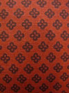 "Exclusively Quilters ""Night Owls"" #3804-60144 col. 73 - Flower Outline on Rust Mini-Thumbnail"