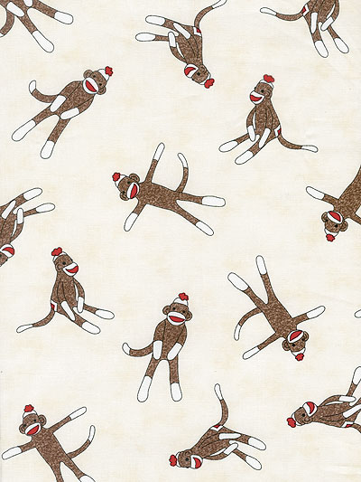 "Moda ""Funky Monkey - Erin Michael"" #15071 col. 11 — Sock Monkeys"