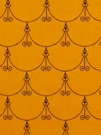 "Quilting Treasures ""Queen of We'en"" # 1649-25969-O – Gold/Orange Regal Scallop"