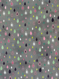 "Moda ""Fresh Cut"" #30394 col. 20 - Gray with Multicolored Droplets"