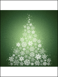 "Hoffman ""Supernova Seasons"" # P4372-141-Pine – Snowflake Christmas Tree Panel_THUMBNAIL"