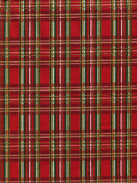 "Timeless Treasures ""Holiday"" # CM3286-RED - Christmas Plaid with Metallic"