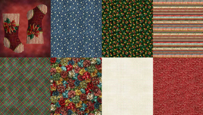 "Hoffman ""Jolly Ol St. Nick"" # Q4455-161 - Fat Quarters Christmas Panel_MAIN"