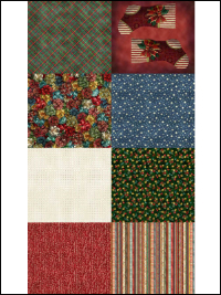 "Hoffman ""Jolly Ol St. Nick"" # Q4455-161 - Fat Quarters Christmas Panel"
