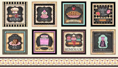 "QT Fabrics ""Home Sweet Home"" # 1649-26323-E - Baking Patches"