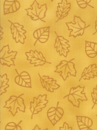 "Moda ""Thankful"" by Deb Strain #19903-12 col. Gold - Leaves on Gold_THUMBNAIL"