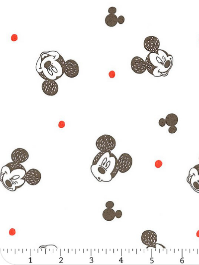"Camelot Fabrics ""Mickey Mouse – Faces"" # 85270303 col.01 – Mickey Mouse Faces on White"