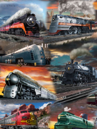 "QT Fabrics ""Artworks IX"" # 1649-26750-X – Trains"