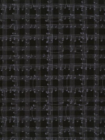Timeless Treasures Row C5935-Black - Music Notes Grid