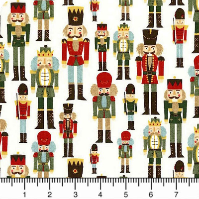 "Moda ""Winter Village"" # 30552-11 - Nutcrackers on Cream MAIN"