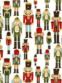 "Moda ""Winter Village"" # 30552-11 - Nutcrackers on Cream"