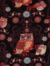 "Exclusively Quilters ""Night Owls"" #3804-60141 col. 8 - Brown Owls on Black Mini-Thumbnail"