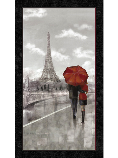 "Quilting Treasures ""Artworks"" # 1649-24637 – Lovers in Paris"