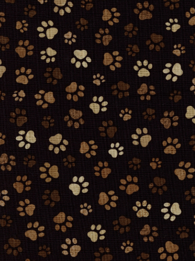 Timeless Treasures # C1846 - Paw Prints on Black