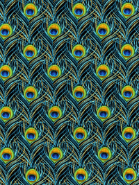 "Kanvas Studio by Benartex ""Rhapsody in Blue"" #8331M-12 - Peacock Feathers"