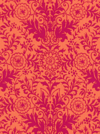 "Ink & Arrow Fabrics ""Zola"" # 26106-CP – Coral/Pink Lyla Damask"