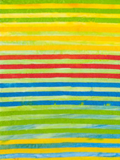 "Robert Kaufman ""Elementals"" Batik # AMD-7393-203-Celebration — Colorful Stripes"