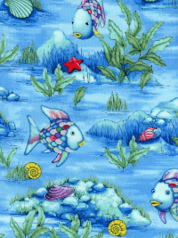 "Marcus Brothers ""The Rainbow Fish"" # R-11-9749-8719 - Rainbow Fish on Ocean Floor Background"