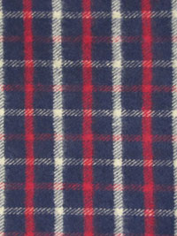 "Marcus Fabrics ""Primo Plaid Flannel"" #R09-J324-0110 - Dark Blue, White, and Red Plaid Flannel"