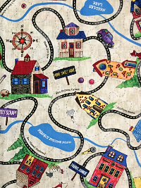 "Timeless Treasures ""Row by Row Fabric"" Row #4492 - Cars on Roads"