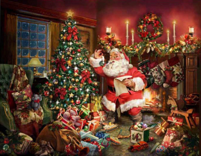 "Hoffman ""Ol St. Nick"" # Q4454-161 – Christmas Santa Digital Panel_MAIN"