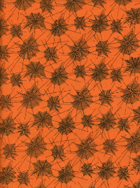 "Riley Blake ""Trick or Treat"" # C-5992 col. Orange - Spider Webs on Orange"