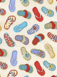 "Northcott ""Surfs Up"" # 21546-10 - Flip-Flops"