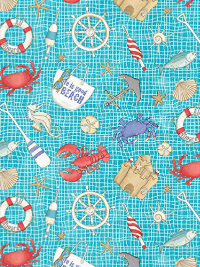 "Northcott ""Surfs Up"" # 21544-62 - Nautical Items on Net"