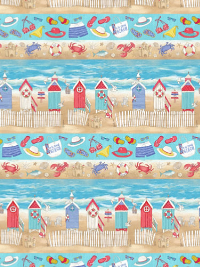 "Northcott ""Surfs Up"" # 21542-42 - Beach Rows"