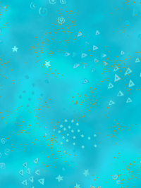 "Clothworks ""Basic Glitter"" # Y0808-33M – Small Shapes on Turquoise with Glitter"