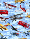 "Exclusively Quilters ""Flying High"" #3993-60822 col. 20 - Vintage Planes Mini-Thumbnail"