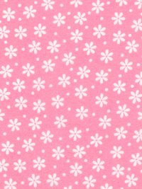 "Robert Kaufman ""Cozy Cotton"" Flannel # FIN-8978-110-Hot Pink - White Flowers on Pink"