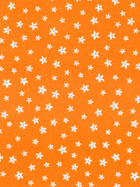 "Robert Kaufman ""Woodland Hideaway"" Flannel # ARHF-17074-8-Orange - White Flowers on Orange"